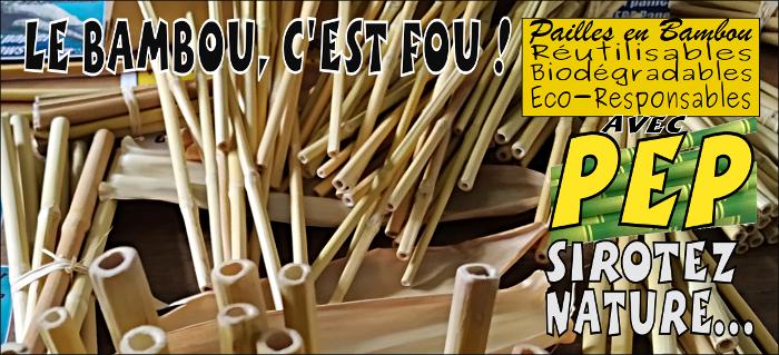 Les pailles en bambou, c